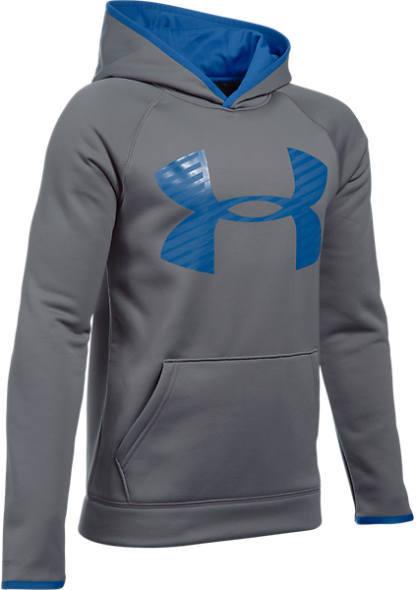 Under Armour Boys' Storm Armour Fleece Highlight Big Logo Hoodie