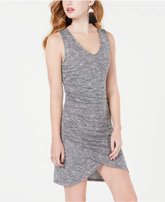 Material Girl Juniors' Ruched Rib-Knit Bodycon Dress
