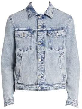 Ami Diagonal Stitch Denim Jacket