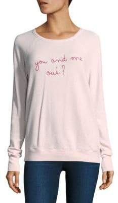 Joie Cotton Annora You & Me Oui Sweatshirt