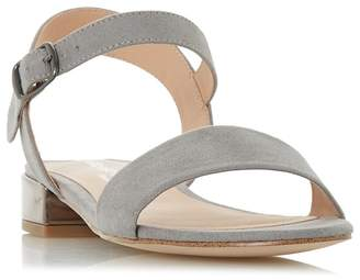 Head Over Heels by Dune - Grey 'Niccy' Ankle Strap Sandals