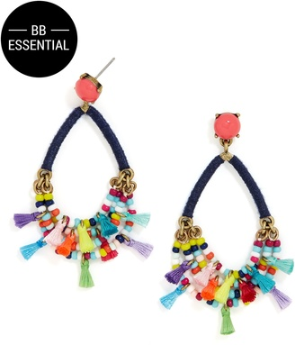 Merengue Hoop Earrings $38 thestylecure.com