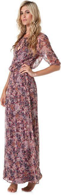 Ella Moss Autumn Silk Maxi Dress