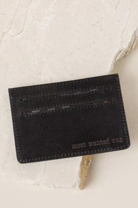 francesca's Monica Leather Card Case in Black - Black