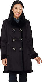 C. WonderC. Wonder Faux Shearling Double Breasted Coat