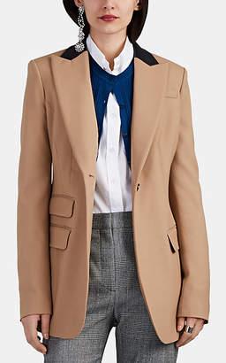 Altuzarra Women's Hurst Contrast-Collar Virgin Wool Piqué Blazer - Beige