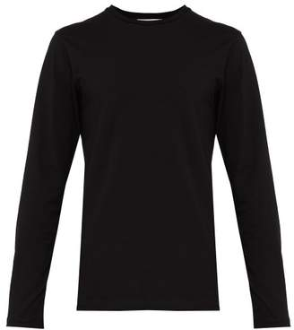 Jil Sander Crew Neck Stretch Cotton T Shirt - Mens - Black
