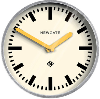 Newgate Clocks - The Luggage Galvanized Wall Clock - Yellow Hands