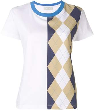 Pringle Argyle Print T-shirt In Indigo/Camel
