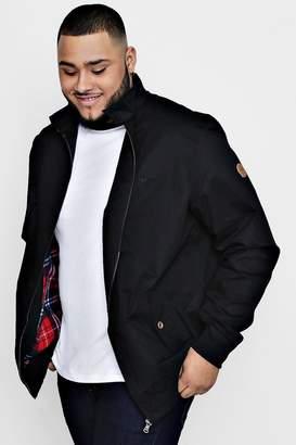 boohoo Big And Tall Harrington Jacket With Lining