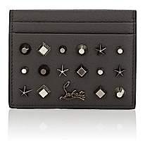 Christian Louboutin Men's Studded Card Case-Gray