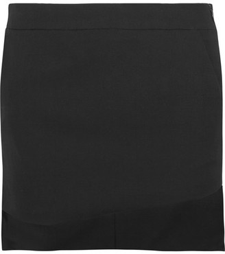 Haider Ackermann - Asymmetric Wool Mini Skirt - Black $525 thestylecure.com