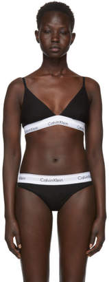 Calvin Klein Underwear Black Modern Cotton Triangle Unlined Bra