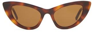 Saint Laurent Lily Cat Eye Sunglasses - Womens - Tortoiseshell