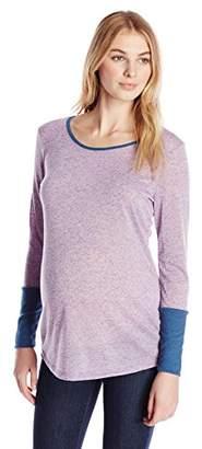 Three Seasons Maternity Women's Maternity Longsleeve Cuff 2 Color Top