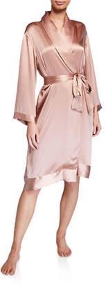 Josie Natori Essentials Key Silk Wrap Robe