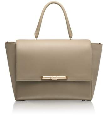 Amanda Wakeley Newman Linen Beige Leather Bag