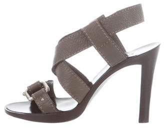 Chloé Leather Strap Sandals silver Chloé Leather Strap Sandals