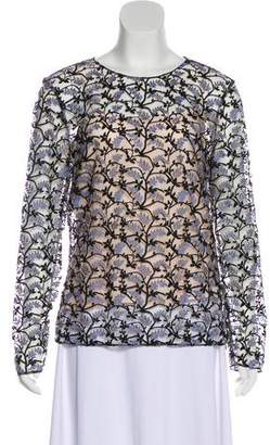 Christian Dior 2016 Embroidered Long Sleeve Blouse