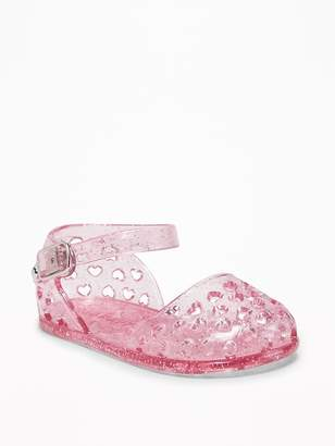 Old Navy Basket-Weave Jelly Sandals for Baby