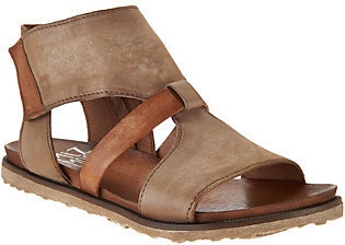 As Is Miz Mooz Leather Cut-out Sandals - Tamsyn $89.95 thestylecure.com