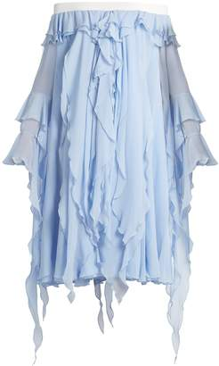 Preen by Thornton Bregazzi Ella off-the-shoulder silk dress