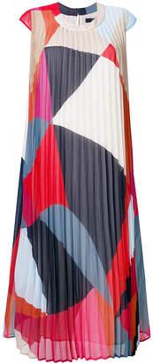 Steffen Schraut geometric print pleated dress