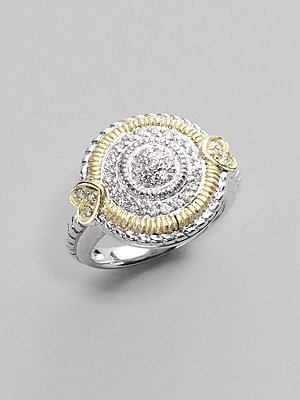 Judith Ripka Sterling Pavé Circle Ring