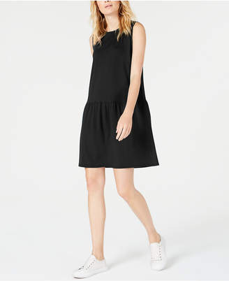 Eileen Fisher Drop-Waist Mini Tencel Dress, Regular & Petite