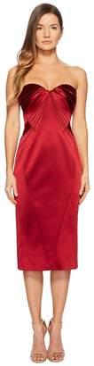Zac Posen Sleeveless Sweetheart Stretch Satin Dress Women's Dress