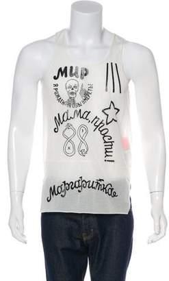 Sankuanz Sleeveless Graphic Print T-Shirt w/ Tags