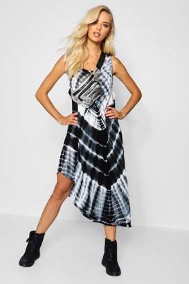 boohoo Tie Dye Midaxi Dress