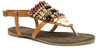 Muk Luks Women's Harlow Beaded Flat Sandal