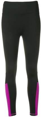 Donna Karan contrast panel leggings