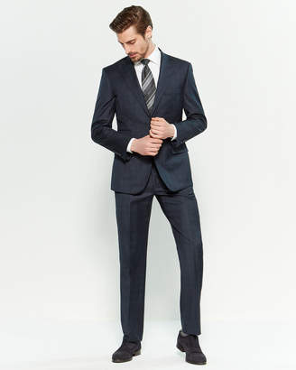 English Laundry Two-Piece Navy Windowpane Suit