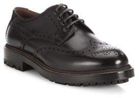 Brunello Cucinelli Lace-Up Wingtip Leather Oxfords