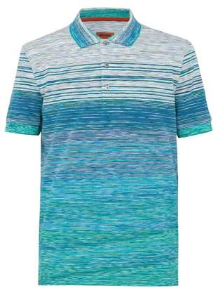 Missoni Striped Cotton Pique Polo Shirt - Mens - Green Multi