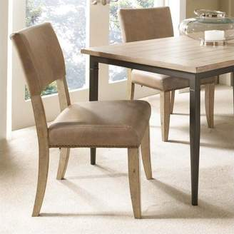 Hillsdale Furniture Charleston Parson's Dining Chairs, Set of 2, Desert Tan Finish
