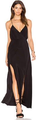 MISA Los Angeles Nola Double Slit Maxi Dress