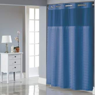 Generic Hookless Moonlight Blue Square Tile Polyester Shower Curtain