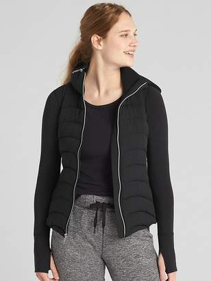 Gap GapFit Lightweight Puffer Vest with Hidden Hood
