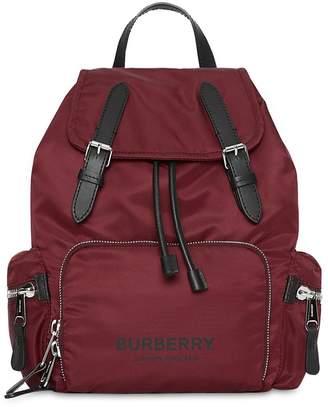 Burberry Medium Logo Nylon Backpack