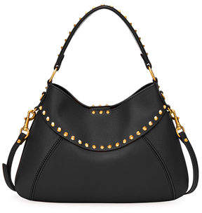 Valentino Twinkle Studded Small Leather Hobo Bag