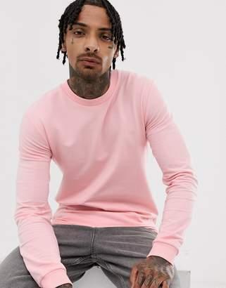 Asos Design DESIGN muscle sweatshirt in pink