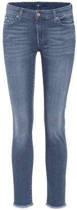 7 For All Mankind Pyper cropped mid-rise skinny jeans