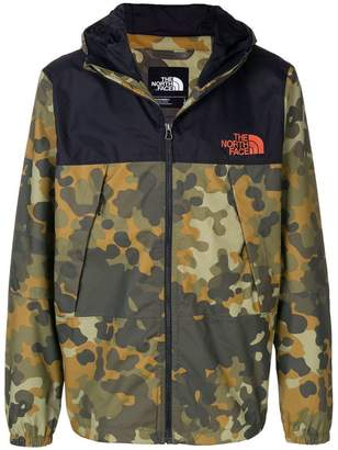 The North Face camouflage hooded jacket