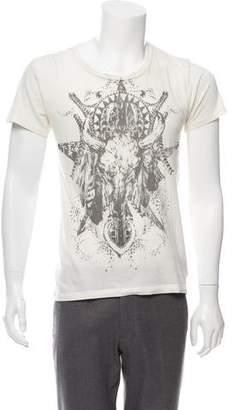 Balmain Graphic Crew Neck Shirt