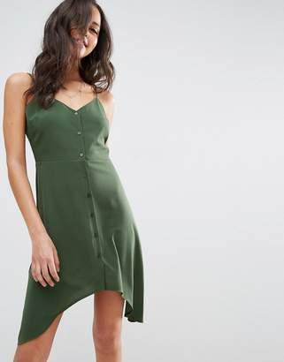 ASOS Button Through Sun Dress With Dipped Hem $35 thestylecure.com