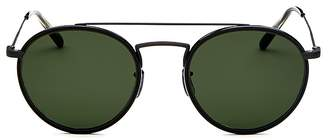 Oliver Peoples Men's Ellice Brow Bar Round Sunglasses, 50mm
