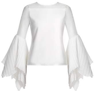 Chufy - X Juan Hernandez Daels Silk Blend Organza Blouse - Womens - White